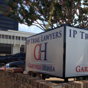 Sign in front of Tyler office, 218 N College